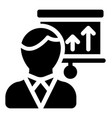 employee presentation vector image vector image