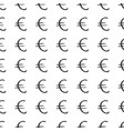 euro sign icon brush lettering seamless pattern vector image vector image