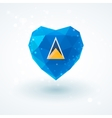 Flag of Saint Lucia in shape diamond glass heart vector image vector image