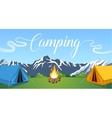 flat camping vector image vector image