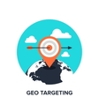 geo targeting flat concept vector image vector image