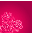glitter roses pink vector image vector image