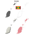 Grenada outline map set vector image vector image