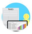 growth taxation concept vector image vector image