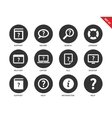 Help icons on white background vector image vector image