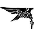 heraldic eagle sketch icon vintage vector image vector image