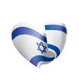 israel flag vector image vector image
