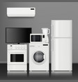 kitchen home appliances household store vector image vector image