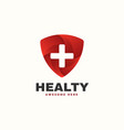 logo healthy gradient colorful style vector image