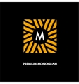 modern monogram emblem logo square the vector image vector image