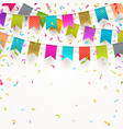 multicolored flags garlands vector image