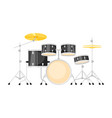 music instrument - drum ki vector image vector image