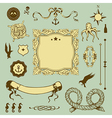 Nautical set with elements for Your design vector image vector image