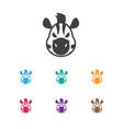 of zoo symbol on zebra icon vector image vector image