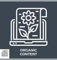 organic content icon vector image vector image