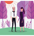 people characters business flat design vector image vector image