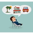 person dreaming design vector image