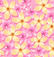 Pink and orange tropical flowers seamless pattern vector image vector image