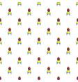 princess throne pattern seamless vector image vector image
