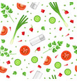 realistic detailed 3d food ingredients seamless vector image vector image
