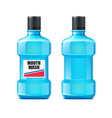 realistic mouth wash bottle mock up vector image