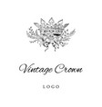royal crown logo template vector image vector image