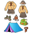 scout clothes and gear collection vector image