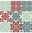 set of Seamless vintage ornametal pattern vector image vector image