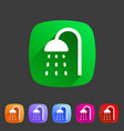 shower douche icon flat web sign symbol logo label vector image vector image