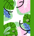 simple abstract background with exotic plants vector image vector image