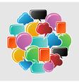 Social bubbles speech vector image vector image