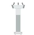 Speaker podium vector image vector image
