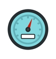 Speedometer icon flat style vector image vector image