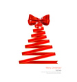 Stylized ribbon Christmas tree vector image