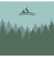 Summer Camp Image of Nature Tree Silhouette vector image vector image