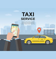taxi service concept web page vector image vector image