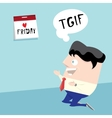 thanks god it is friday concept i love friday vector image