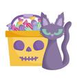 trick or treat - happy halloween vector image vector image