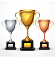 Trophy cup set vector | Price: 3 Credits (USD $3)