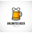 Unlimited Beer Concept Symbol Icon or Logo vector image vector image