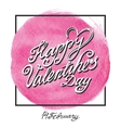 valentines day circle vector image