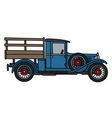 Vintage blue lorry vector image vector image