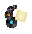 Vinyl Record Discs vector image vector image