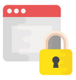 web protection flat icon vector image vector image