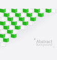 white green abstract background square 3d modern vector image vector image