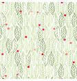 white pattern with leaves dots vector image