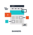 banners flat concept vector image
