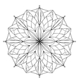 antistress coloring book with geometric vector image