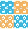 Factory pattern set colored vector image