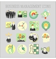 set of a business and management icons vector image